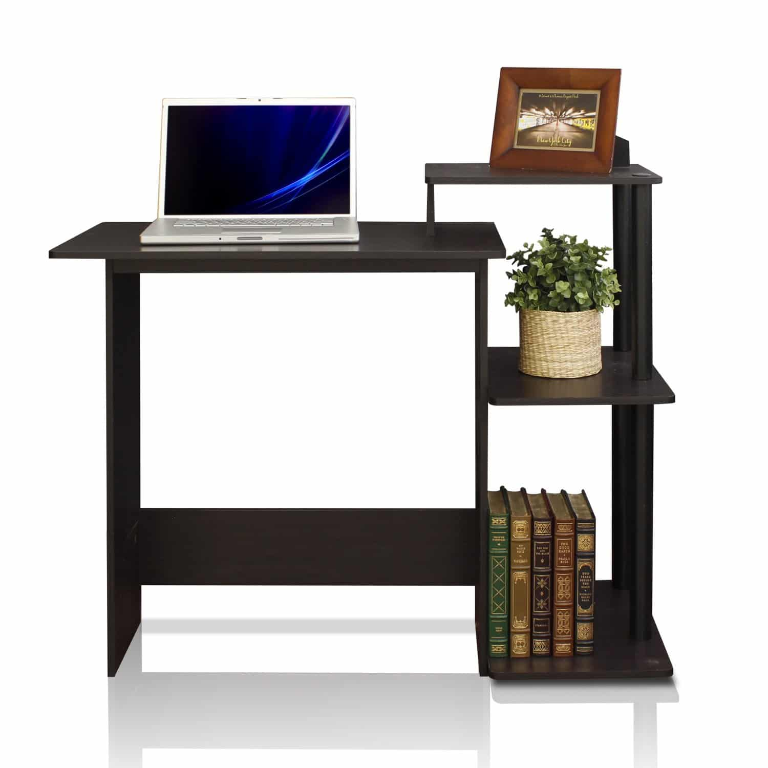 Furinno 11192EX/BK Efficient Home Laptop Computer Desk