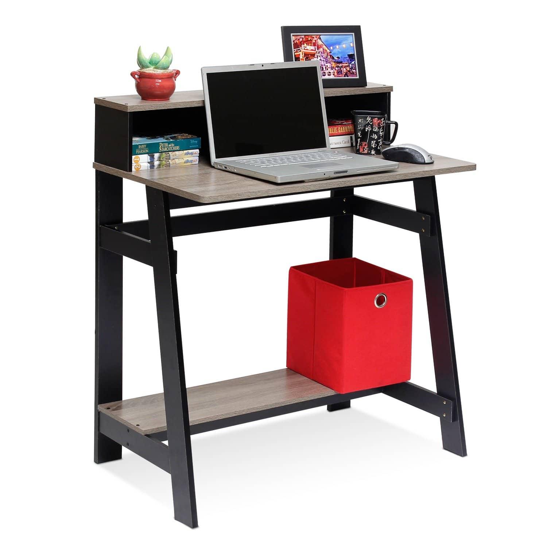 Furinno 14054BK/GYW Frame Computer Desk
