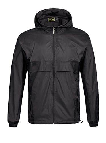GEEK LIGHTING Men's Waterproof Hooded Rain Jacket