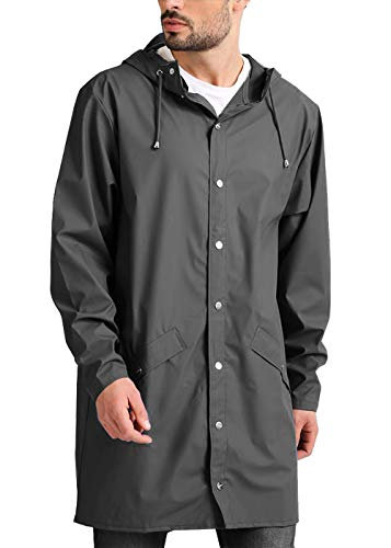 JINIDU Mens Lightweight Waterproof Rain Jacket