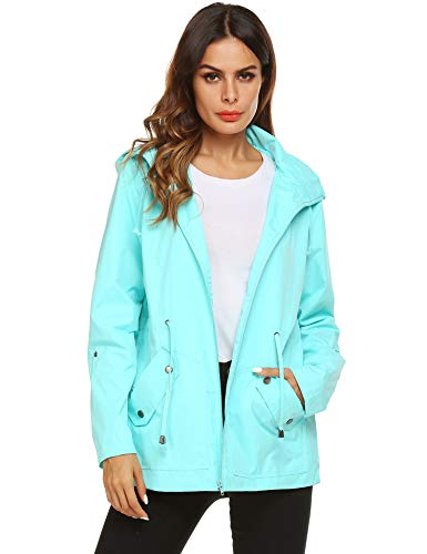 Raincoat Women Waterproof Trench Jacket