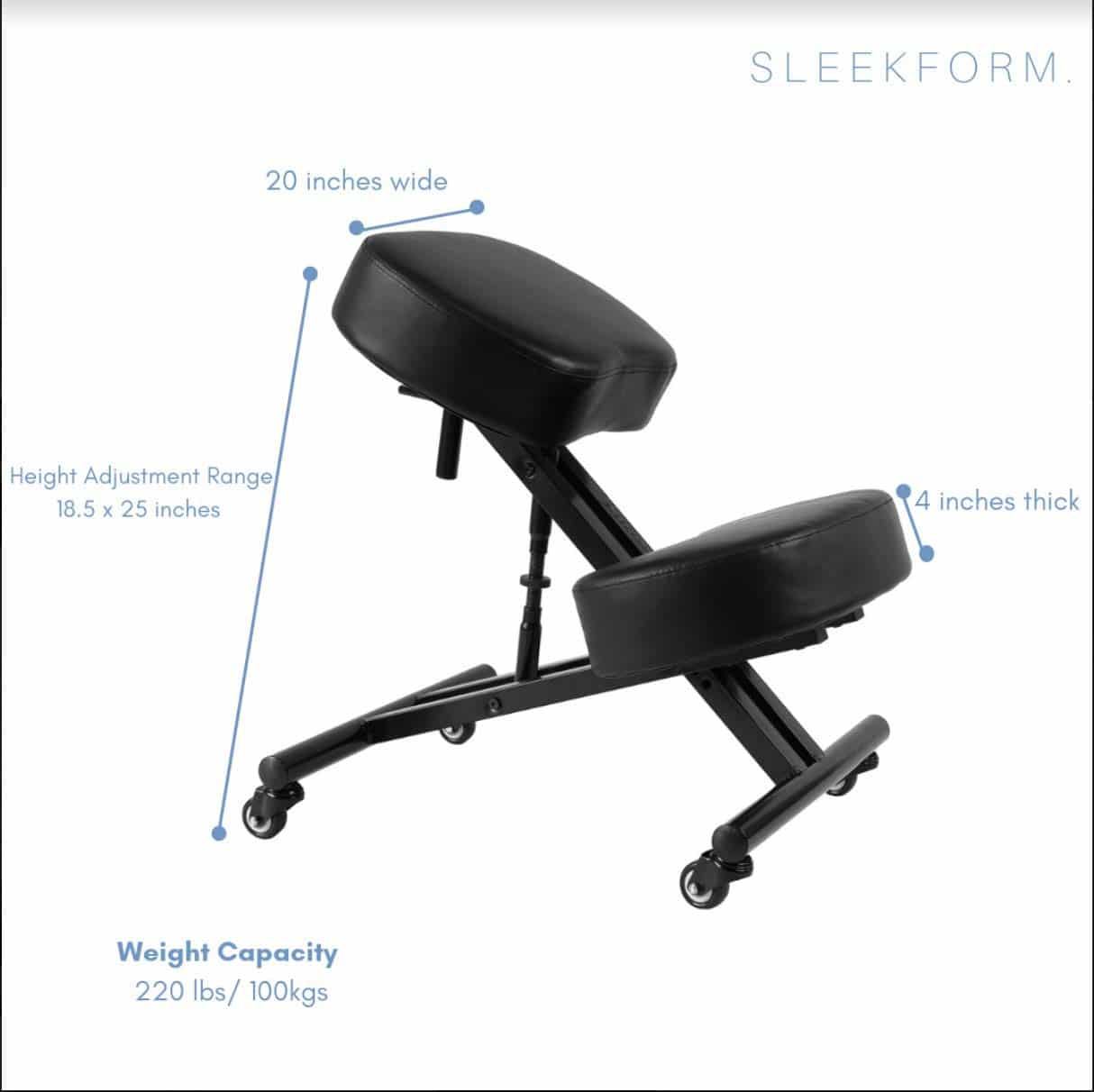 Sleekform Alpharetta Adjustable Kneeling Chair
