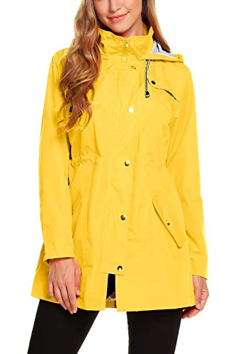 ZHENWEI Women's Lightweight Hooded Rain jacket