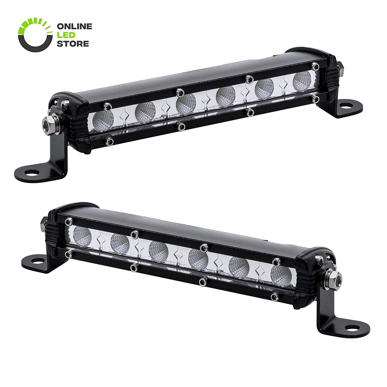 "2pc 7"" Ultra-Slim Single Row Light Bar"