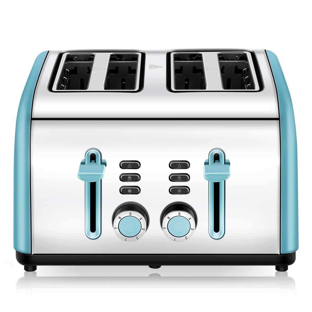 4-Slice Toaster, CUSINAID 4 Wide Slots Stainless Steel Toasters