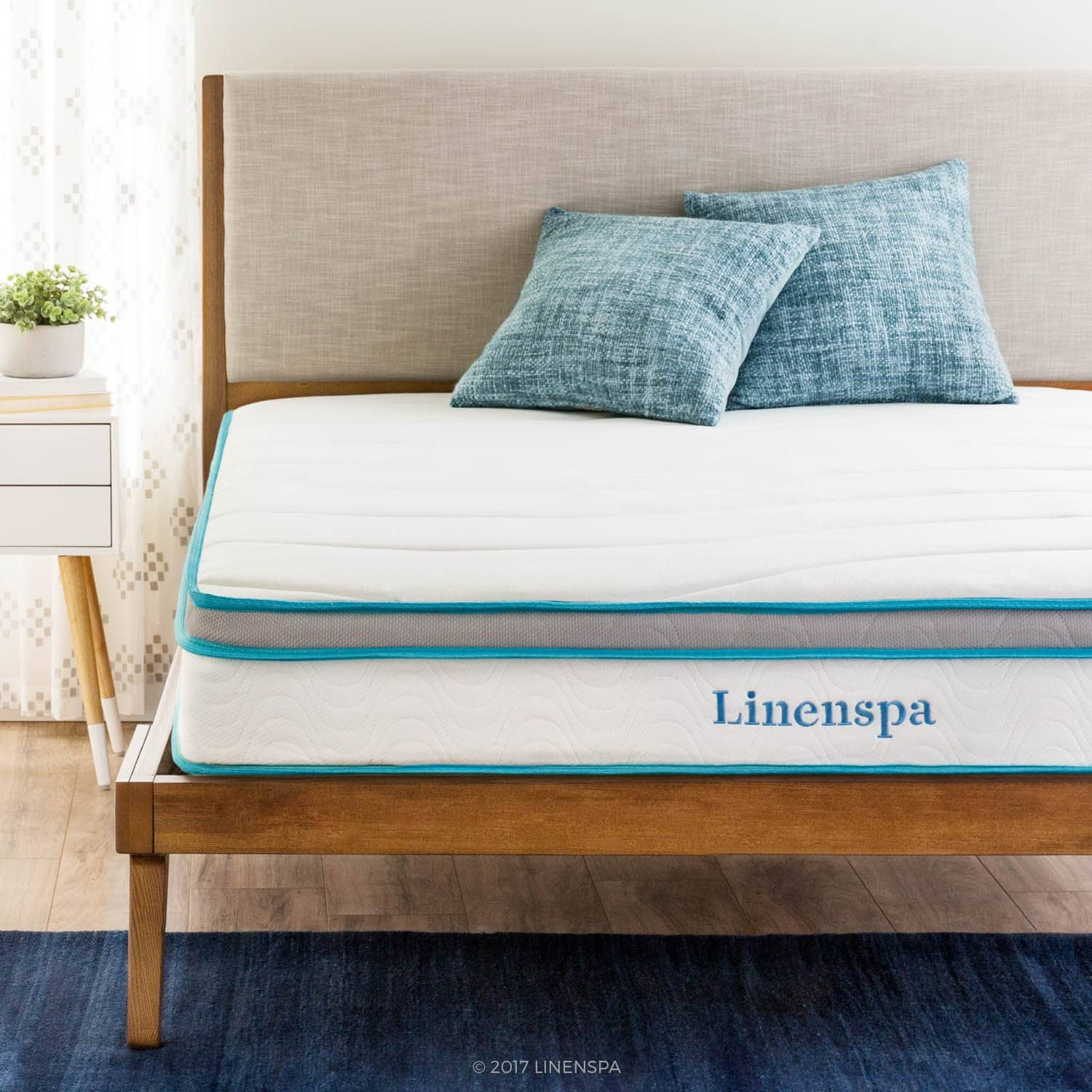 Linenspa 8-Inch Memory Foam and Innerspring Mattress