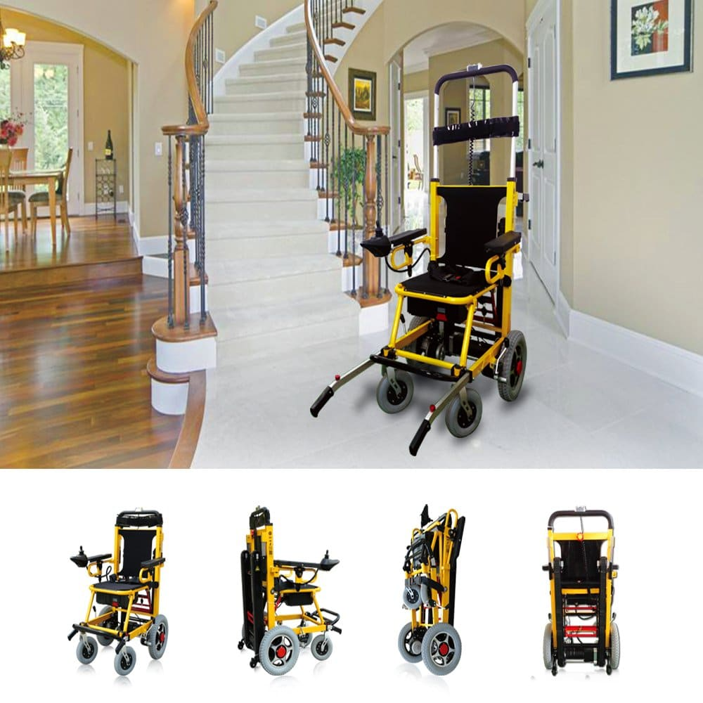 Mobility Scooter 400 lb. Capacity-Power Wheelchair-Stair Lift- Electric Folding Mobility Aid-Disabled Aids Can Climb up and Down Stairs