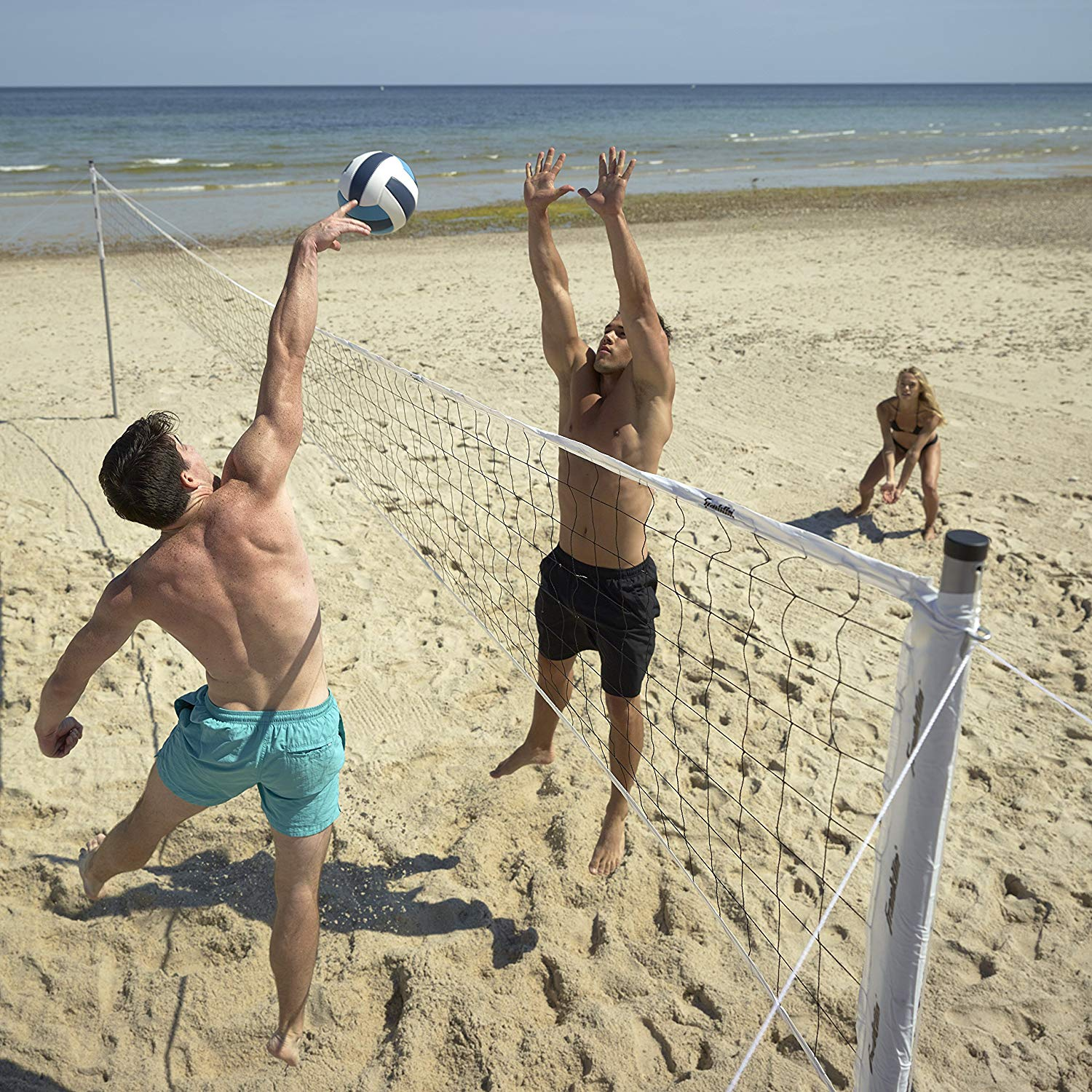 Franklin Sports Professional Series Steel Pole Volleyball System