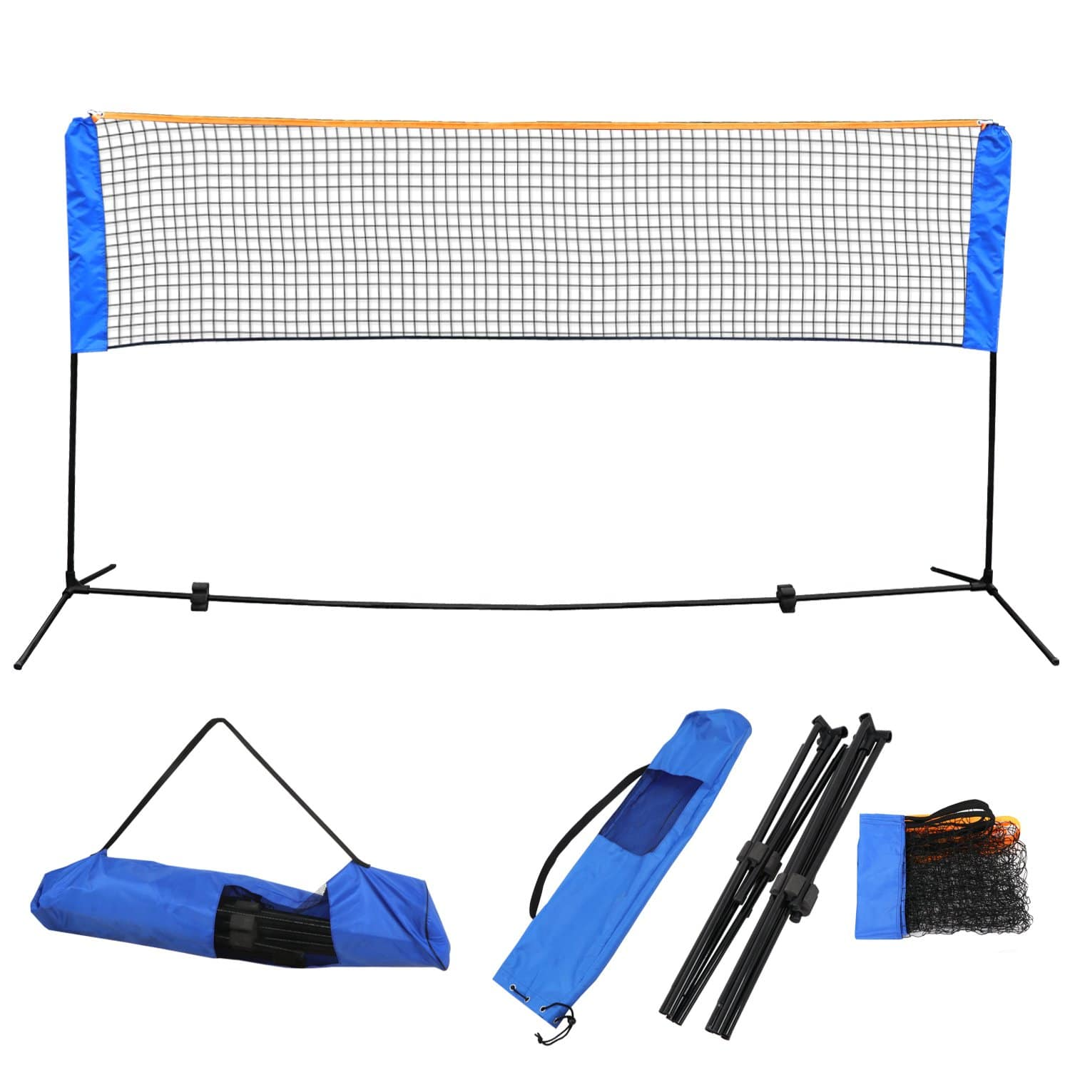 ZENY 10 Ft x 5 Ft High Portable Volleyball Net Set w/Poles