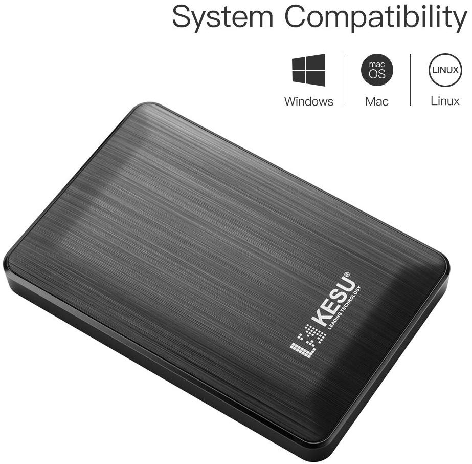"2.5"" 500GB Ultra Slim Portable External Hard Drive"