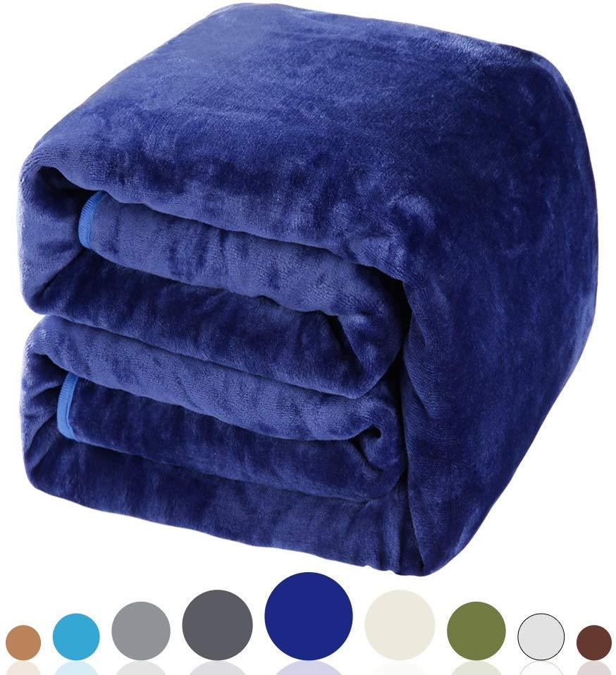 Balichun 330GSM Fleece Twin Bed Blanket (Twin Size)
