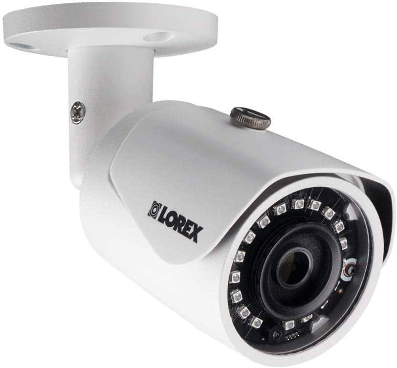 LOREX LNB4173B 4 Megapixel HD Weatherproof IP Security Bullet Camera, White