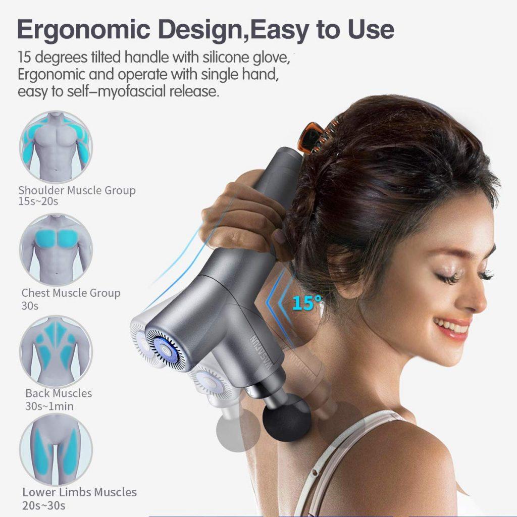 Muscle Massage Gun, WASAGUN Professional Handheld Vibration Massager Device