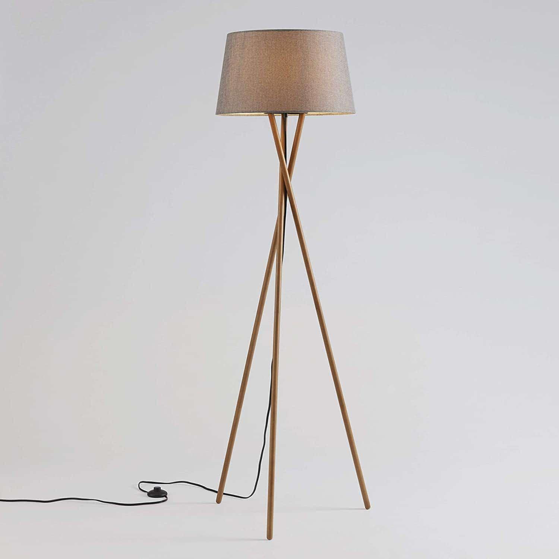 Ambiore Wood Tripod Floor Lamp