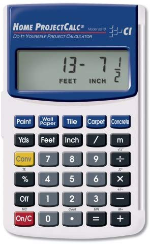Calculated Industries 8510 Home ProjectCalc Do-It-Yourselfers Feet-Inch-Fraction Project Calculator | Dedicated Material Keys for Estimating Material Quantities and Costs For Home Handymen and Diys