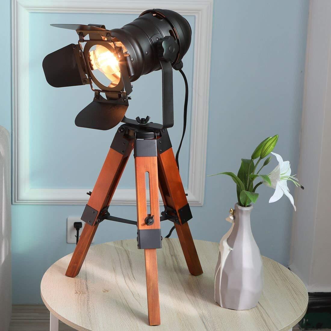 Decoluce Industrial Tripod Floor Table Lamp