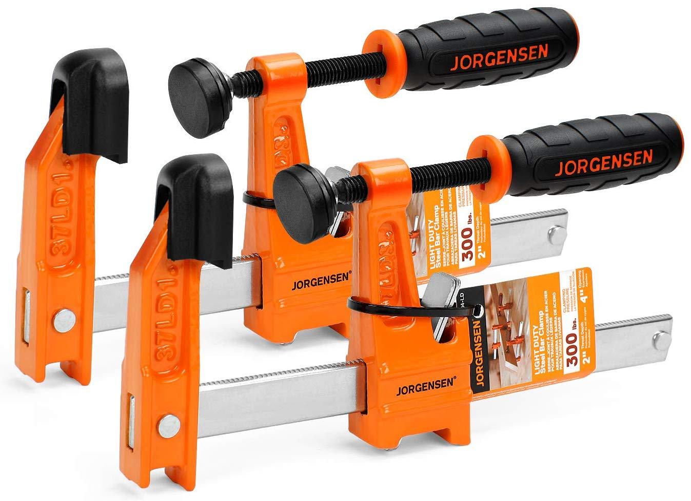 Jorgensen 2-Pack Steel Bar Clamp Set