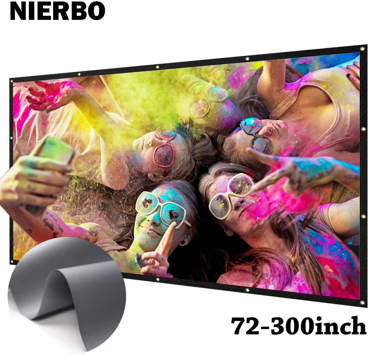 NIERBO Metal Silver Projection Screen