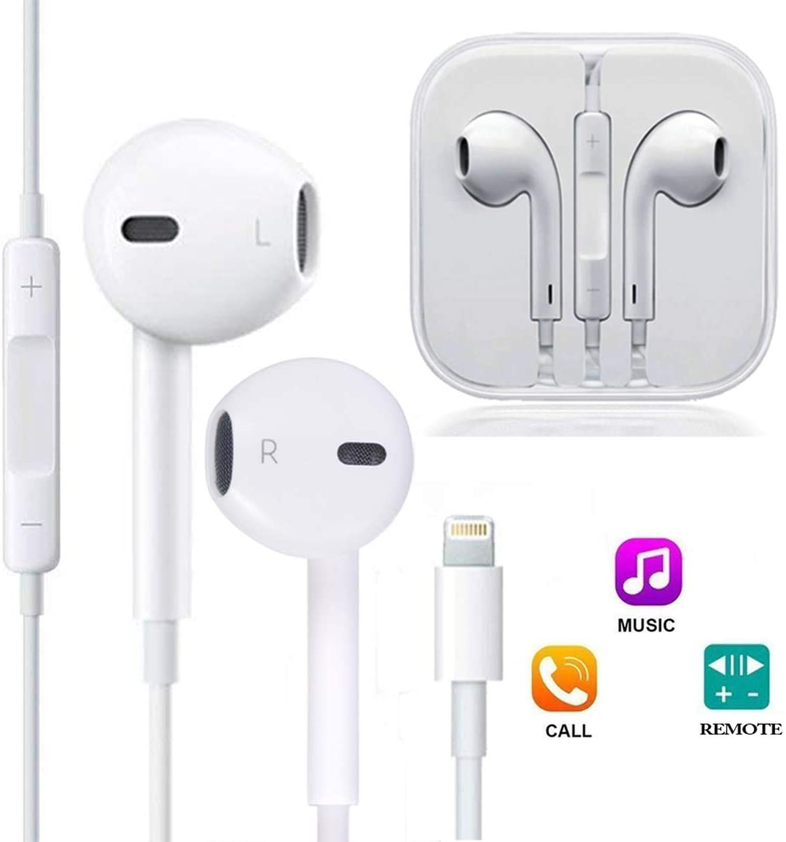 Apple EarPods with Lightning Connector - White