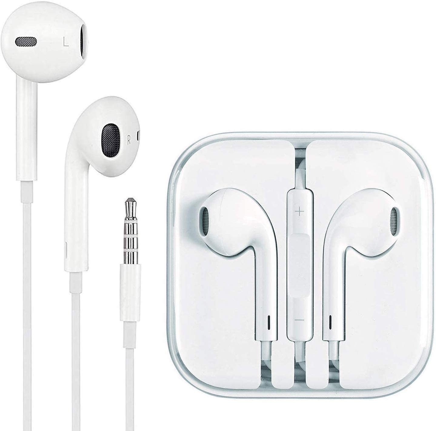 Earbuds, 3.5mm Wired Microphone Earphones Stereo Headphones Noise Isolating Headset Compatible with iPhone 6S/6S Plus/6/6 Plus/SE/5S/5C/5/4S/4/Samsung/Android/MP3/MP4/PC Android Earphones