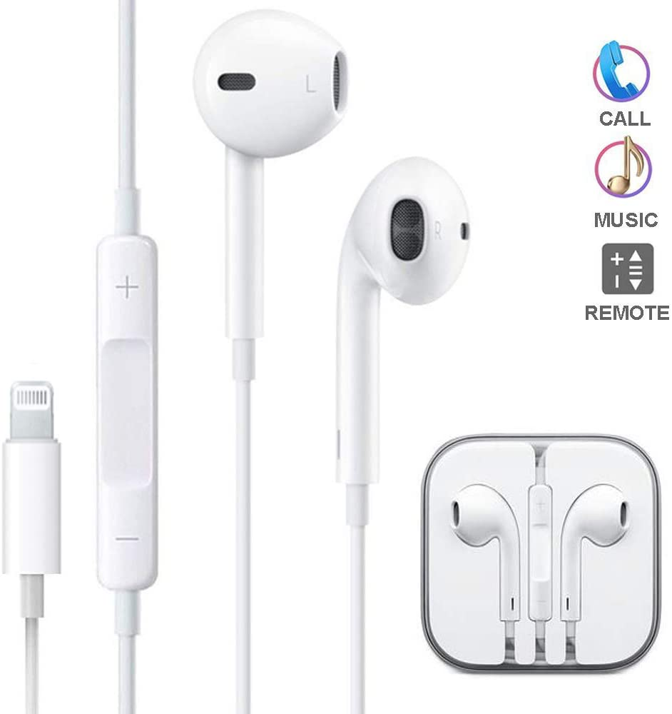 Earbuds, Microphone Earphones Stereo Headphones Noise-Isolating Headset Fit Compatible with iPhone Xs/XR/XS Max/iPhone 7/7 Plus iPhone 8/8Plus /iPhone X Earphones (1Pack)