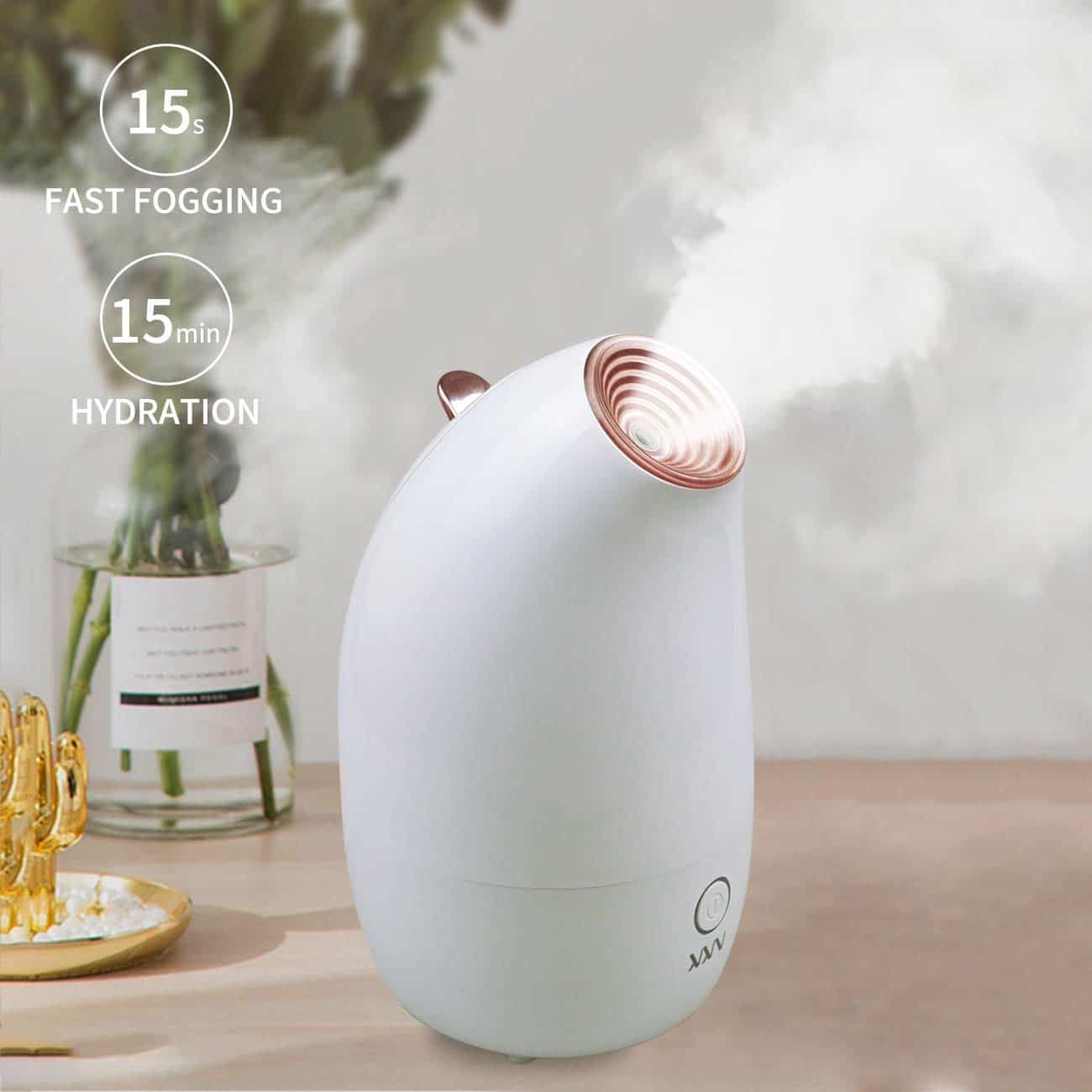 Facial Steamers - VKK Nano Ionic Facial Steamer Warm Face Steamer Mist Humidifier Steamer Home Facial Sauna Spa Humidifier