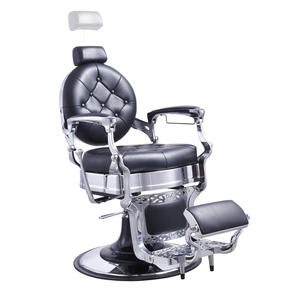 Heavy-Duty Barber Chair Men's Grooming Barbershop Hydraulic Chair - Vanquish