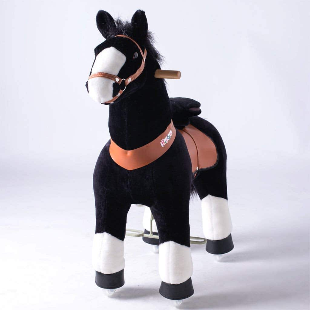 PonyCycle Ride-On Black Mechanical Riding Horse – large