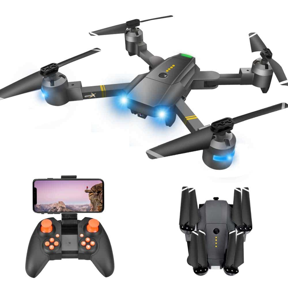 Potensic D88 Foldable Drone, 5G wi-fi FPV Drone with 2K Camera, RC Quadcopter for Adults and Experts, GPS Return Home, Ultrasonic Altitude Setting, Optical Flow Positioning, Brushless Motors with Case
