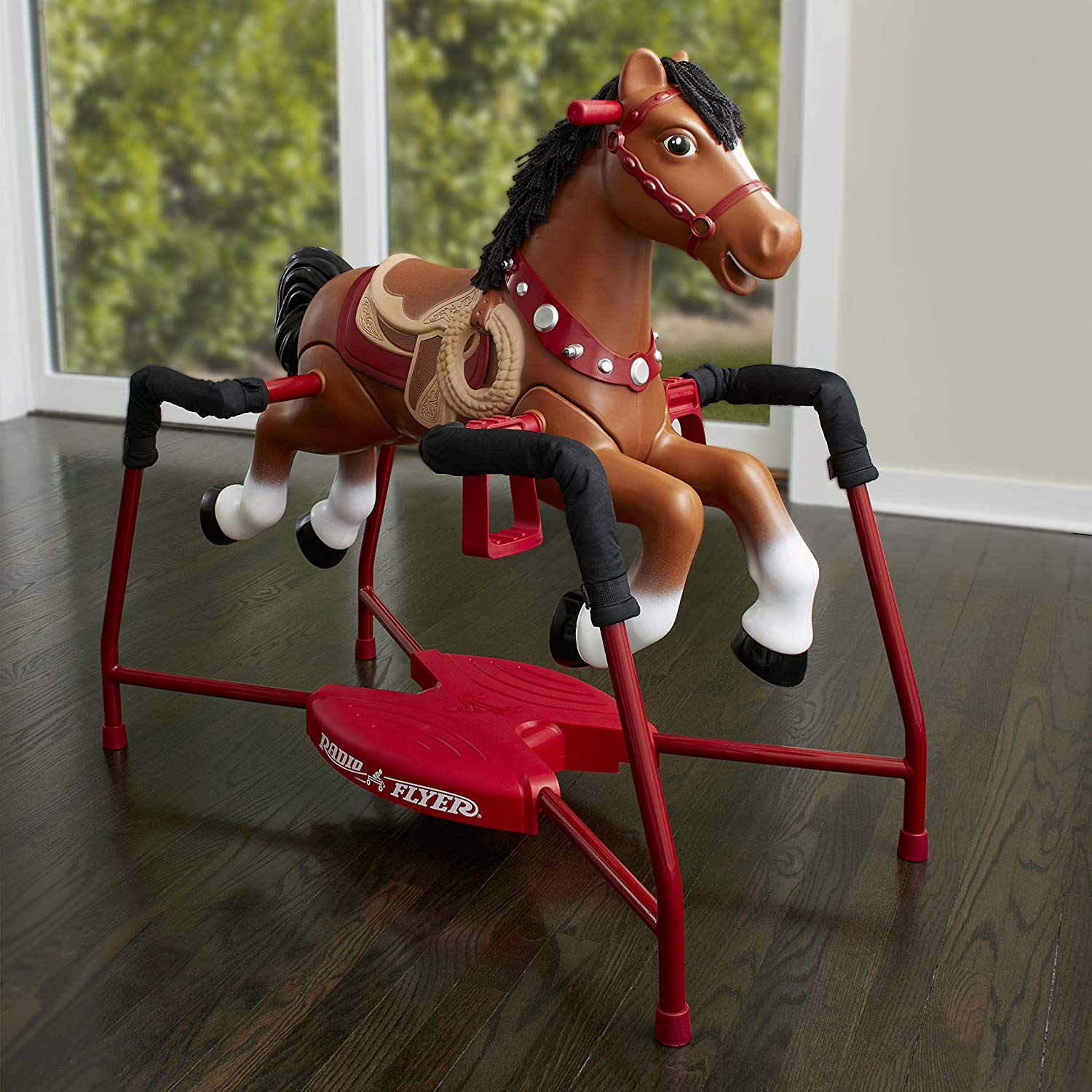 Radio Flyer Plush Interactive Riding Horse