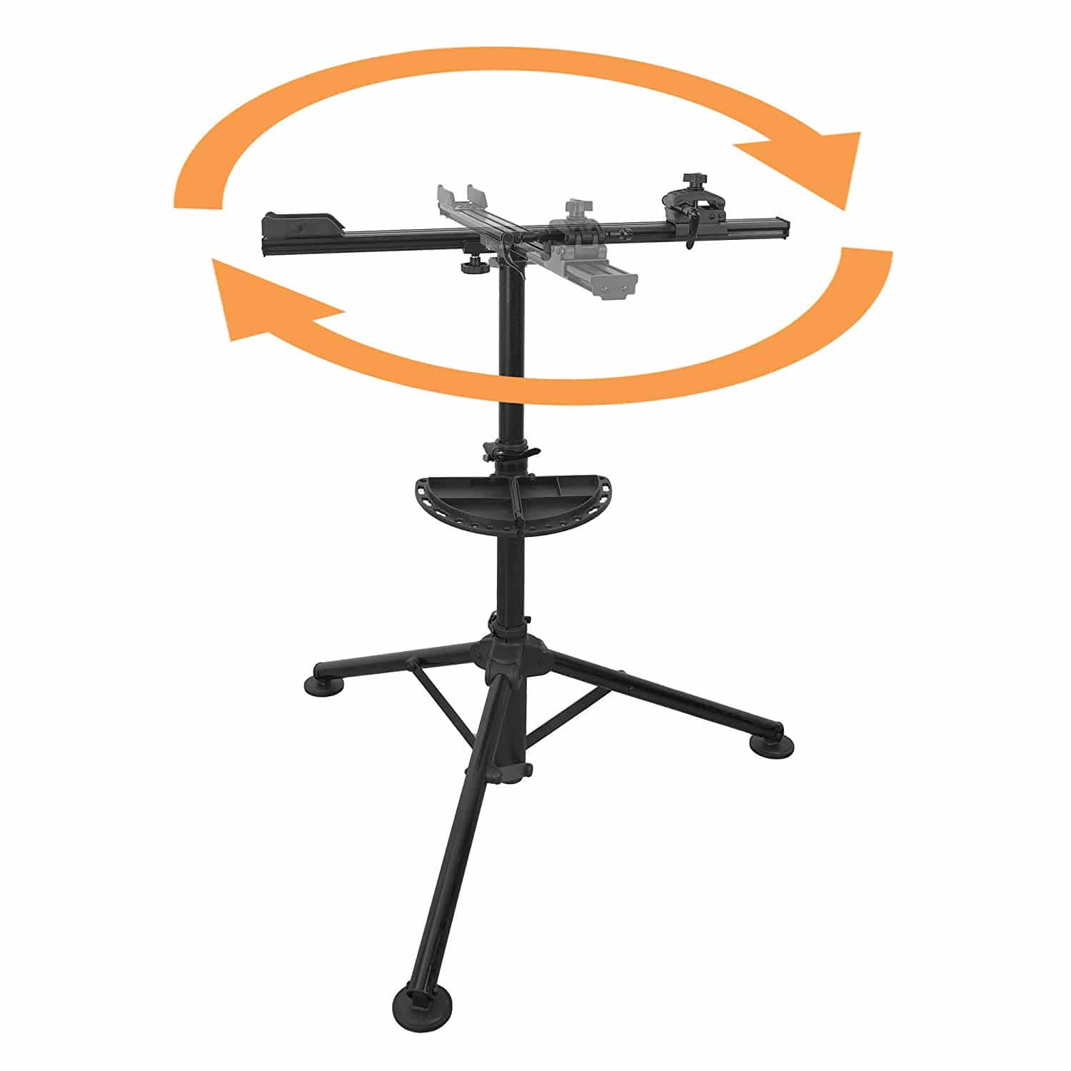 BIKEHAND Bicycle Repair Mechanics Workstand -for Home or Professional Team Use - Mountain or Road Bike Maintenance with Plate Tools Holder - Aluminum Pro Sports