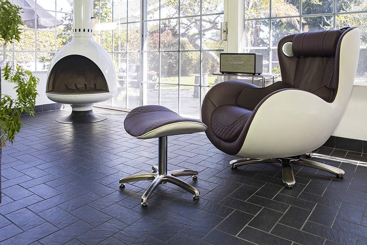 NOUHAUS Massage Chair with Ottoman