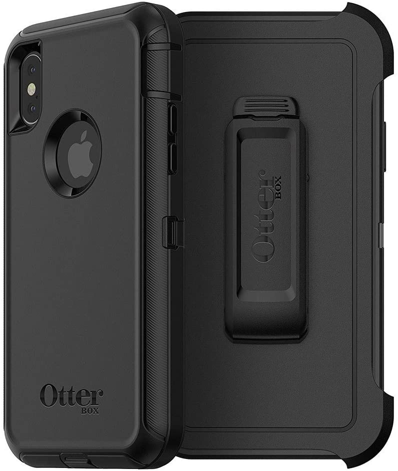 OtterBox Defender Series Screenless Edition Case & Holster for iPhone X/Xs (Renewed) - Black