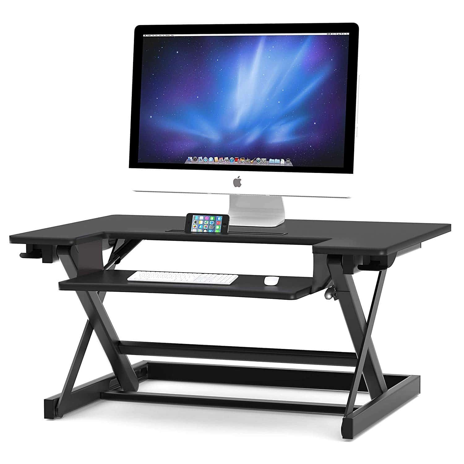 SHW Height Adjustable Sit to Standing Desk