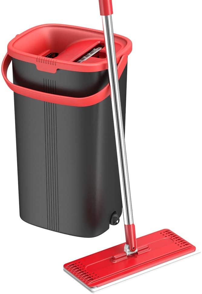 TETHYS Flat Floor Mop and Bucket