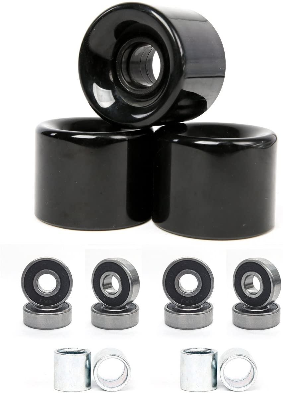 FREEDARE 58mm Skateboard Wheels 82a + ABEC-7 Bearing Steel and Spacers Cruiser Wheels