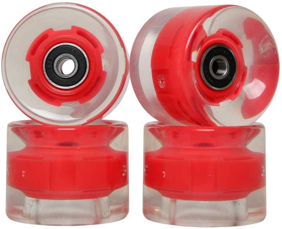 FREEDARE Skateboard Wheels with Bearings 60mm Longboard Wheels Cruiser Wheels