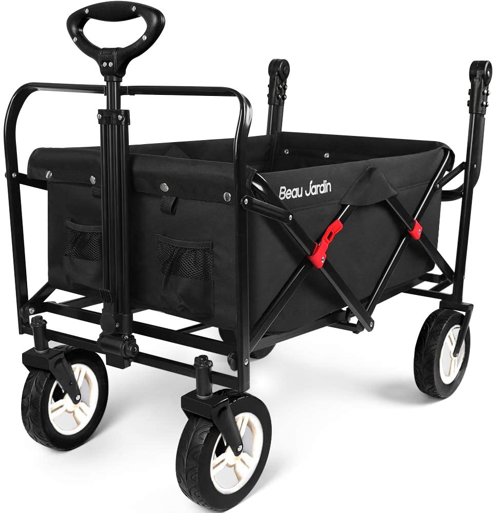 BEAU JARDIN Folding Push Wagon