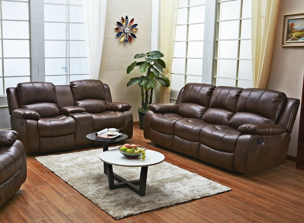Betsy Furniture 2PC Bonded Leather Sofa