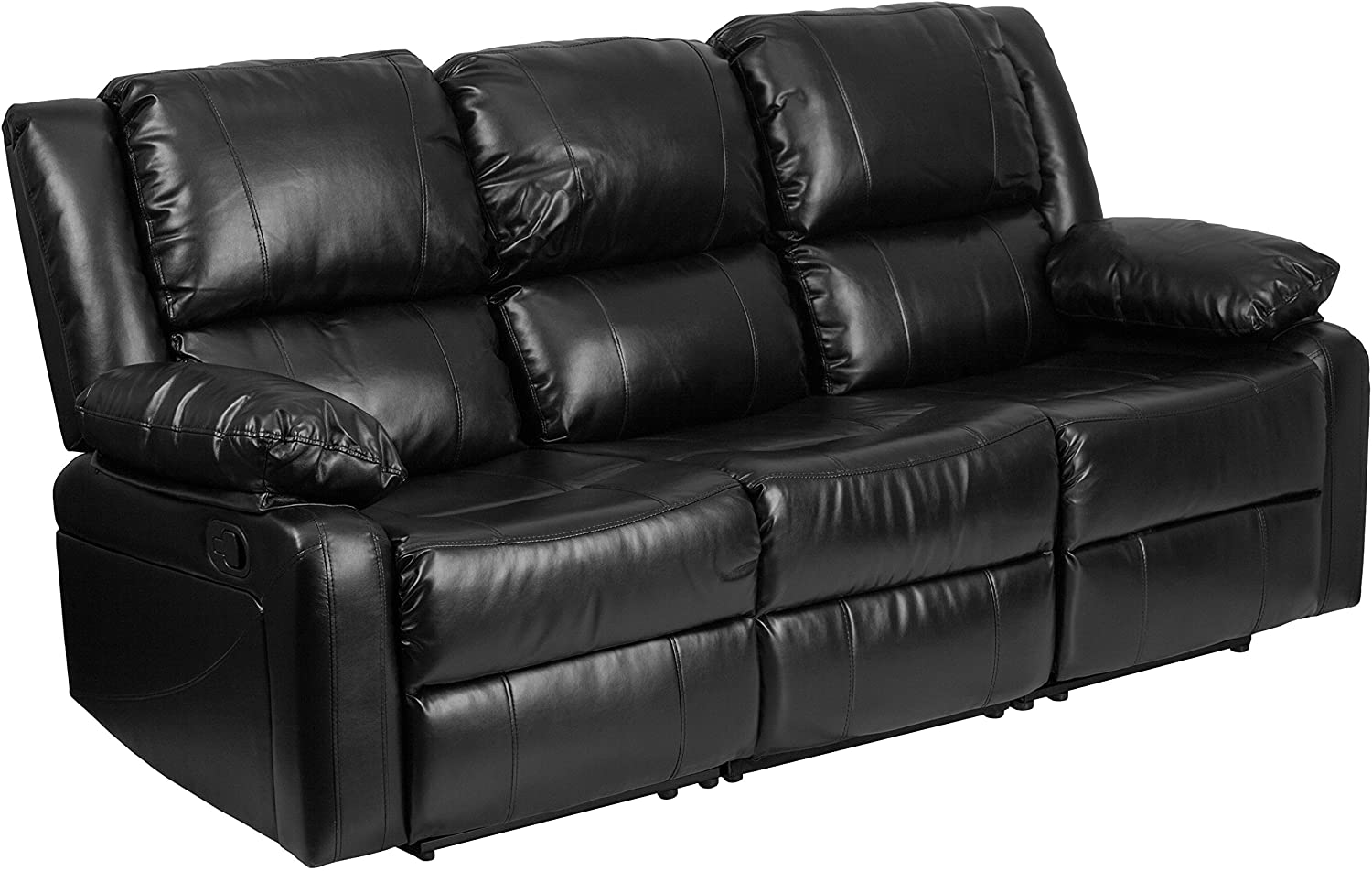 Flash Furniture Harmony Series Black Leather Sofa