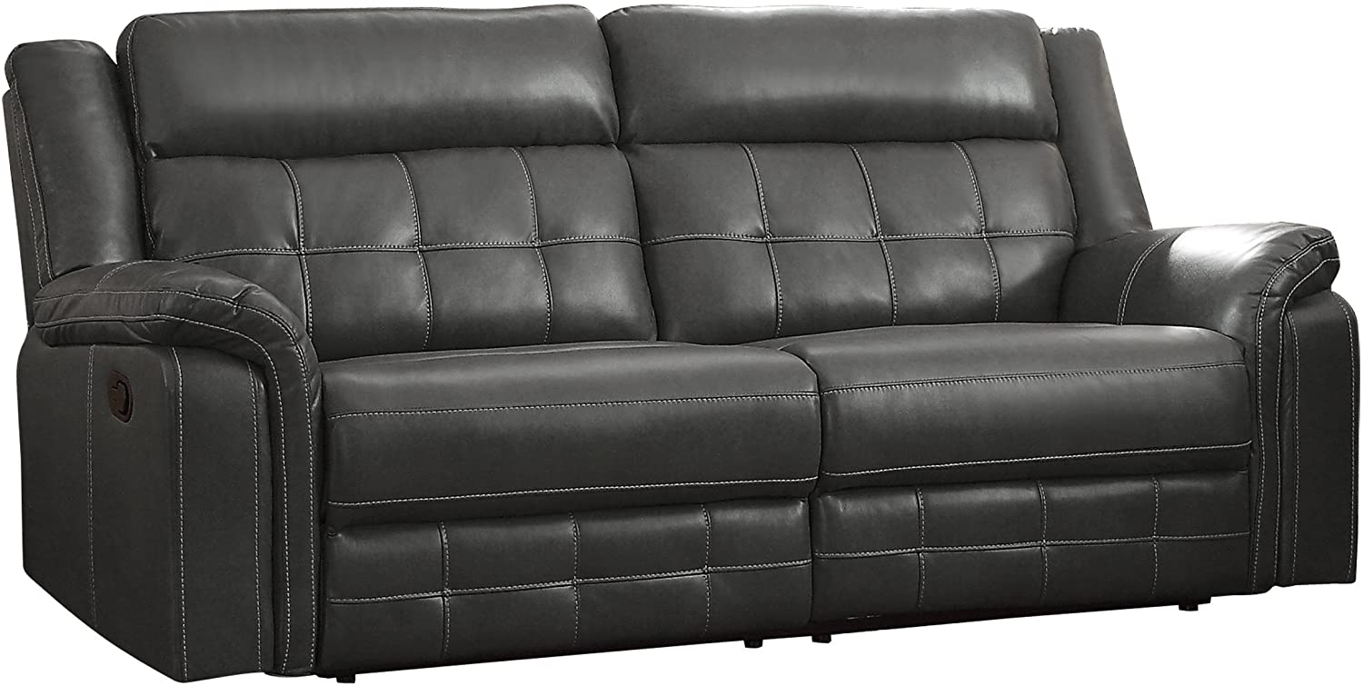 "Homelegance Keridge 85 ""Leath-Aire Reclining Sofa"