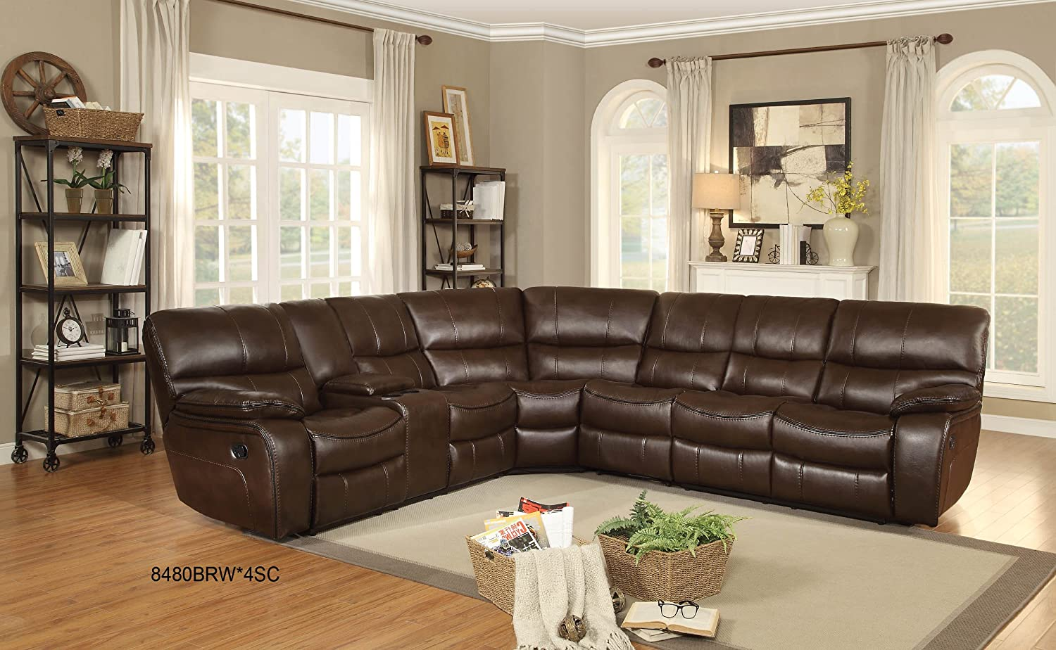 "Homelegance Pecos 105"" x 95"" Sectional Sofa"