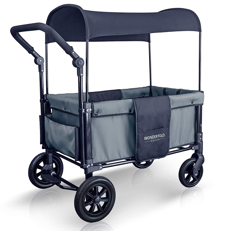 WonderFold Multi-Function 2 Passenger Push Folding Stroller Wagon