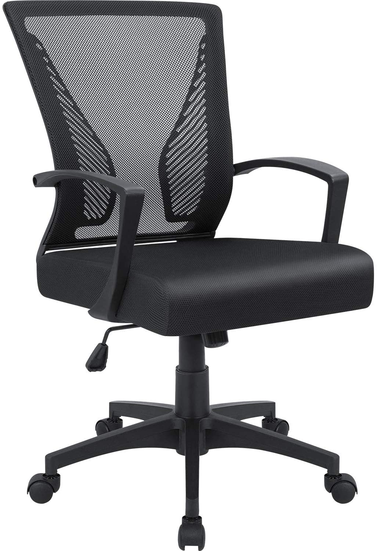 Furmax Office Mid Back Computer Ergonomic Mesh Chair
