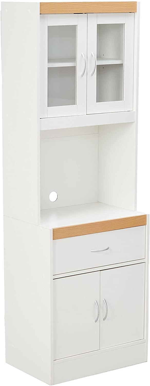 Hodedah Long Standing Kitchen Cabinet