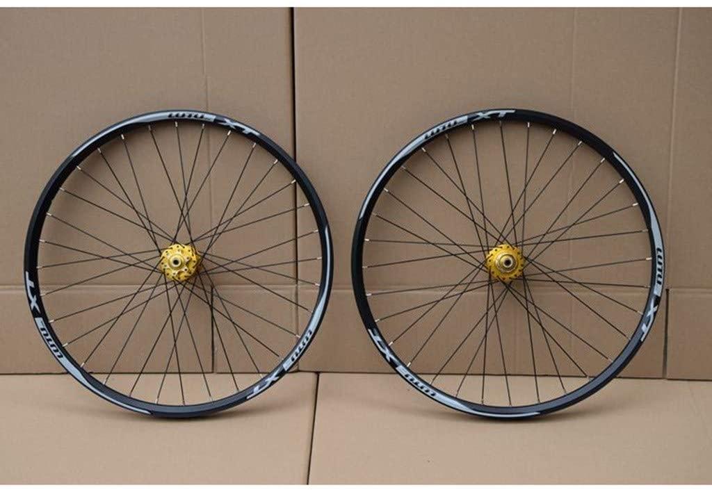 MZPWJD MTB Bicycle Wheelset 26 27.5 29 in Mountain Bike Wheel Double Layer Alloy Rim Sealed Bearing 7-11 Speed Cassette Hub Disc Brake 1100g