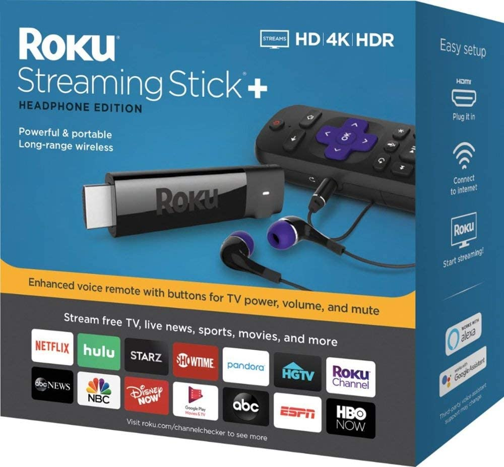 Roku - Streaming Stick+ 4K Headphone Edition