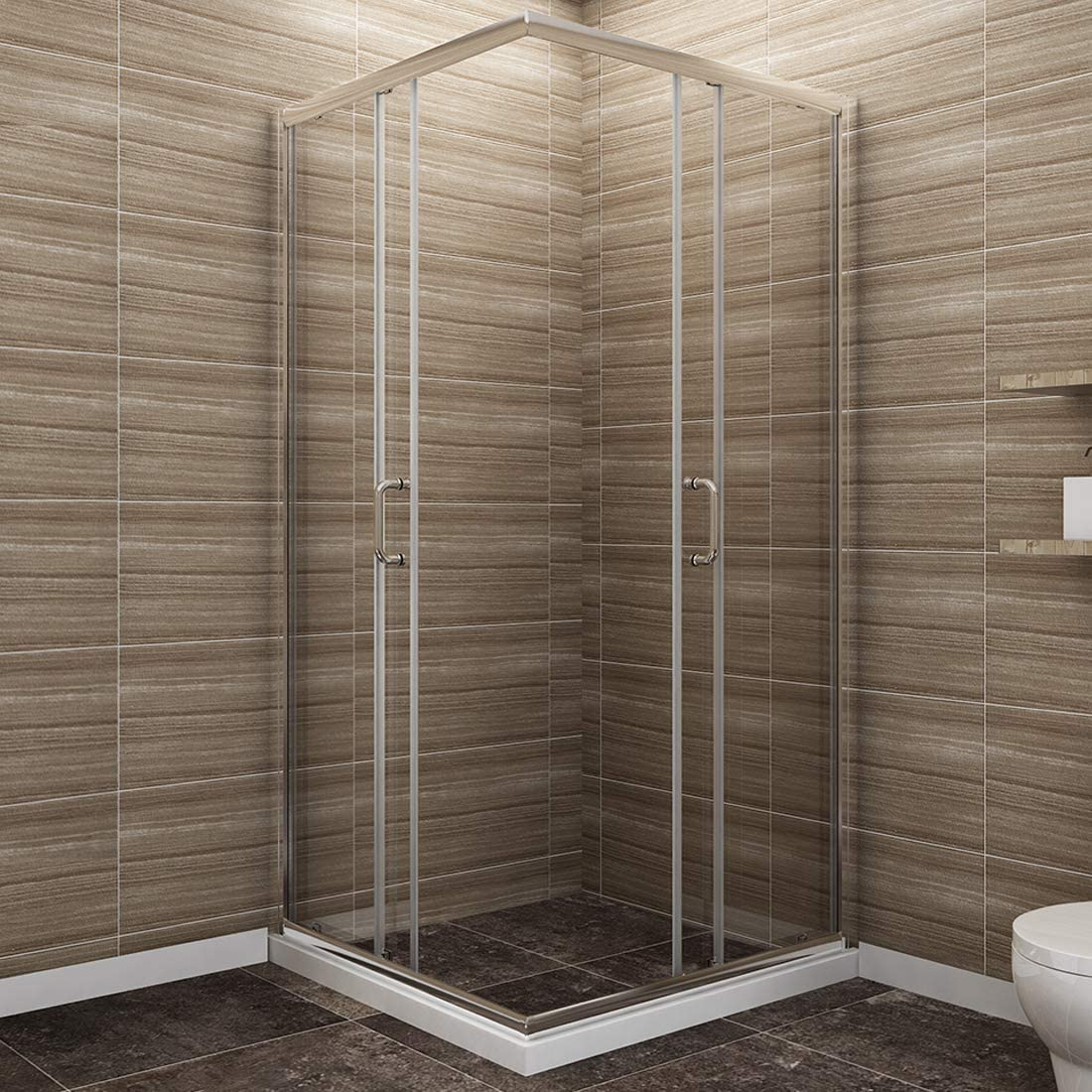 SUNNY SHOWER Corner Shower Enclosure