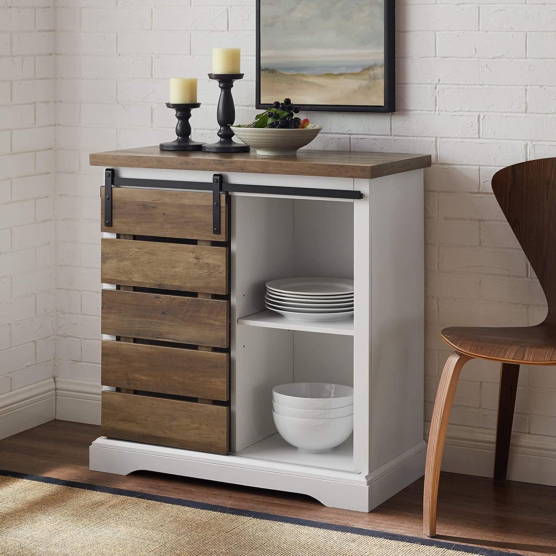 Walker Edison Furniture Company Modern Sideboard Kitchen Dining Storage Cabinet
