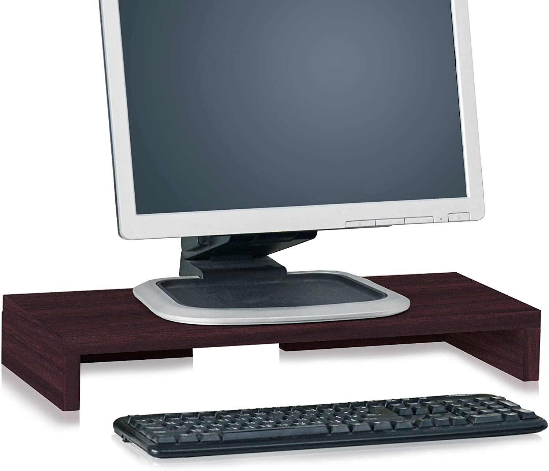 Way Basics Modern Computer Monitor Stand TV PC Desktop Screen Riser